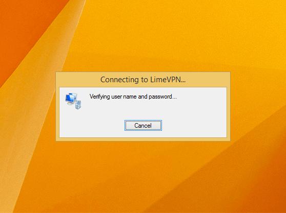 How to setup VPN Windows 8 PPTP | LimeVPN connecting