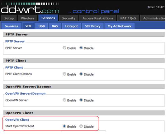 DD WRT routers OpenVPN Setup Instructions