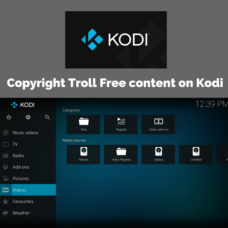 enjoy Copyright Troll Free content on Kodi