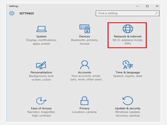 Setting up L2TP VPN on Windows 10 Settings Window