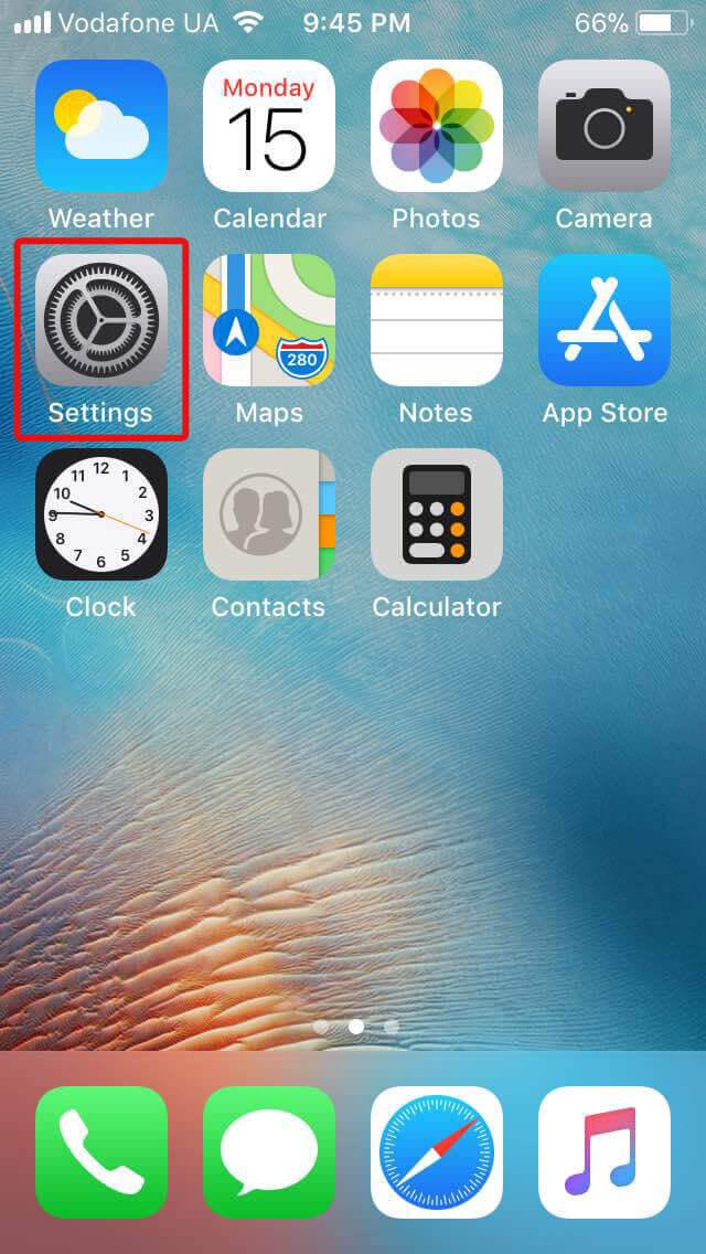 iOS Apps screen