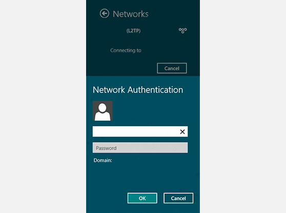 Setting up Windows 8 SSTP VPN connection authentication
