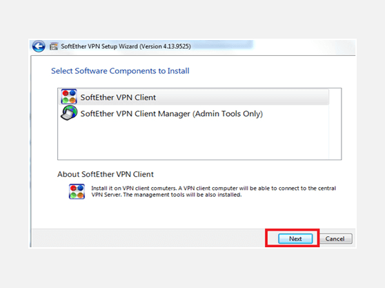 Windows SoftEther VPN connection