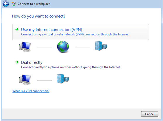 How to create VPN connection in Windows Vista L2TP | Connect to a Workplace Network Window