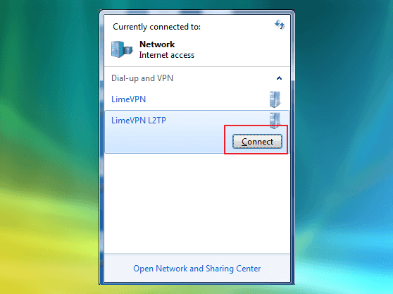 Making Windows Vista connecting to L2TP VPN