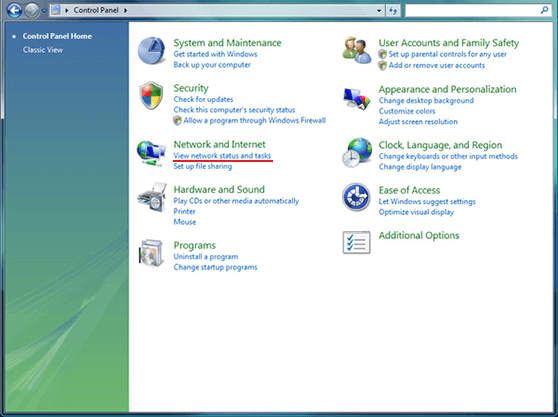 L2TP VPN on Windows Vista configuration | Control Panel Window
