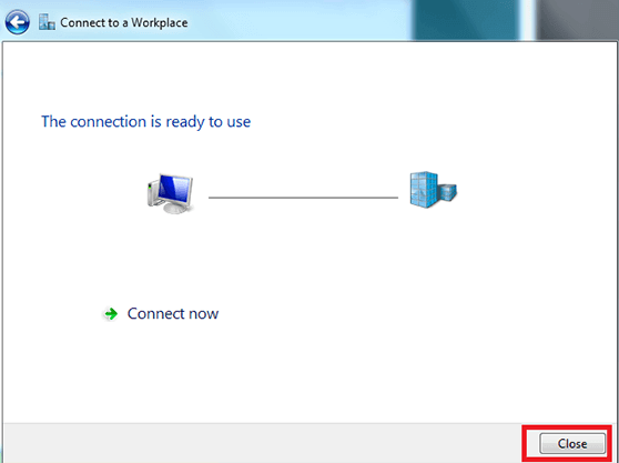 Get VPN for Windows Vista using SSTP Connect to a Workplace Network Window 4