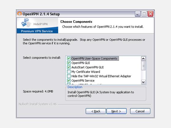 VPN on Windows XP setup instructions for OpenVPN