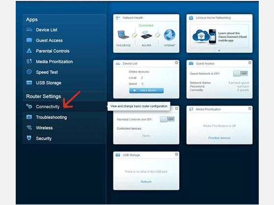 how to setup VPN on LINKSYS EA4500