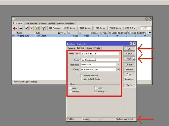 How to Configure VPN client on MIKROTIK router?   LimeVPN