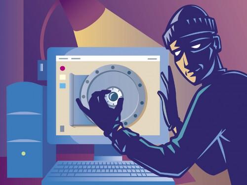 burglar opening a safe