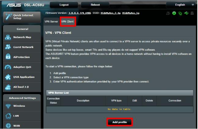 Asus routers L2TP/IP Sec setup