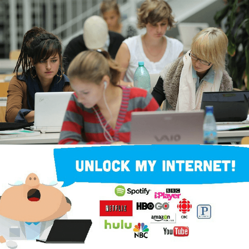 Unblock internet