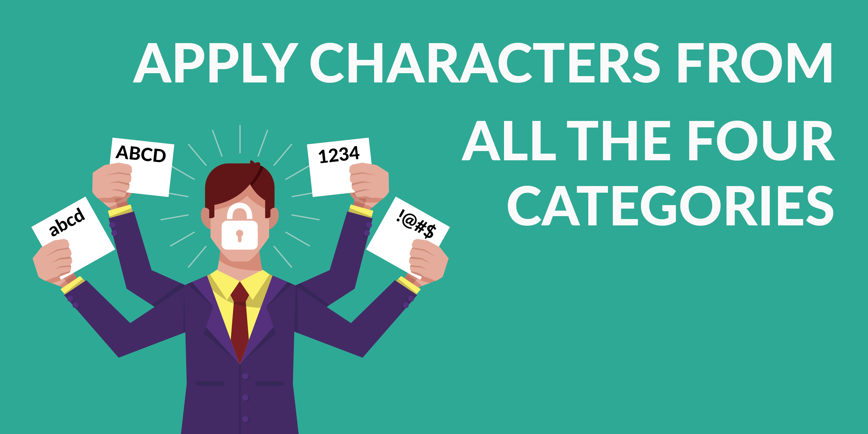 Apply Characters from all the Four Categories