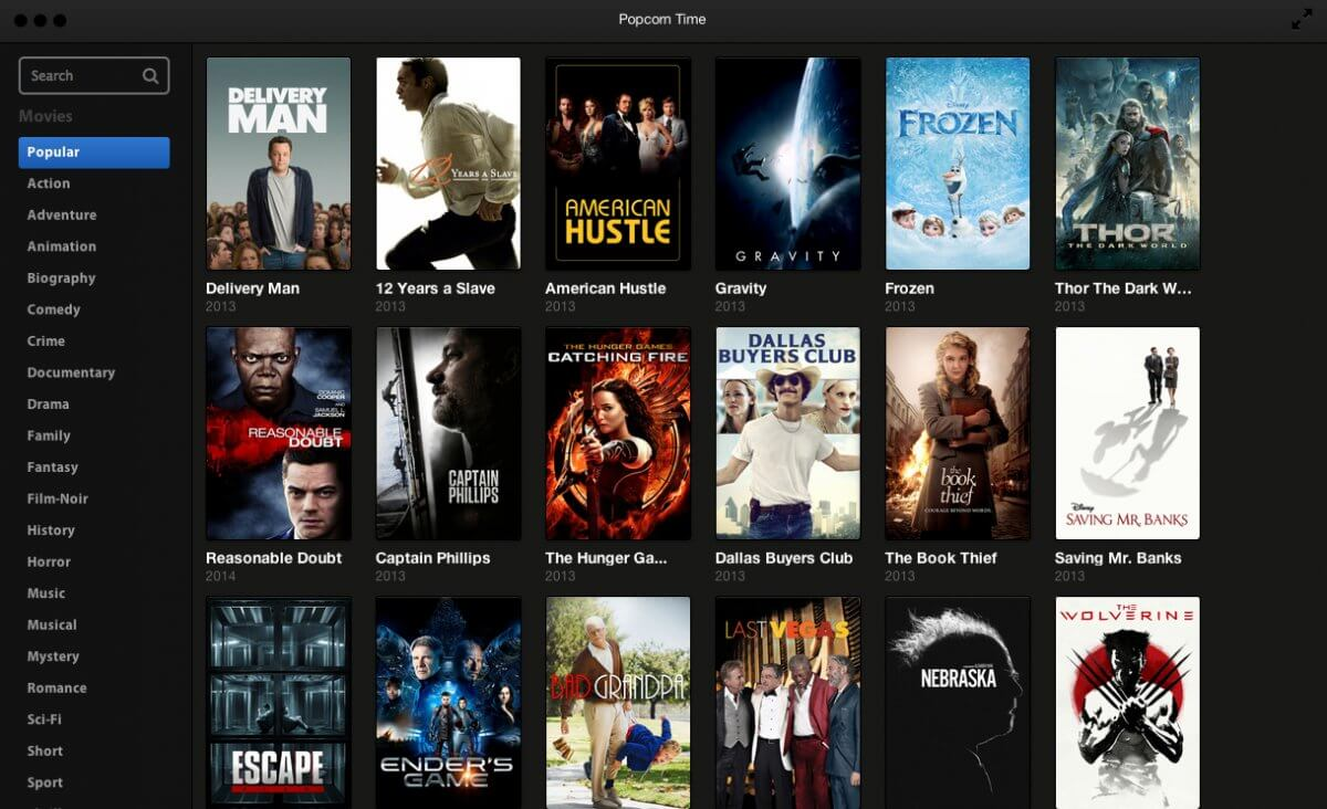 Popcorntime — watch free movies online without downloading