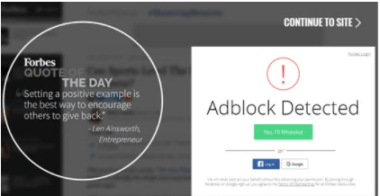 Engaging with Users Who Use Ad Blocks