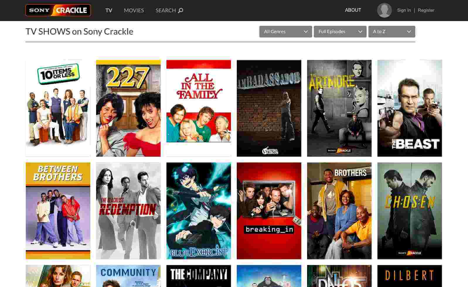 Sony Crackle — free online movie streaming service