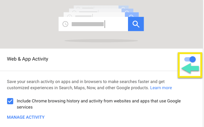 delete everything Google knows about you