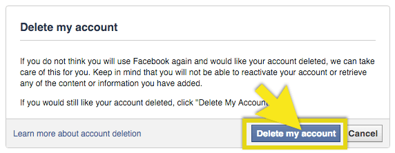 How to Delete Facebook Account