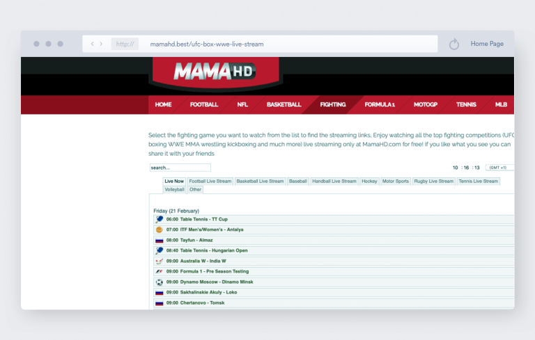 Best MMA Streaming Sites