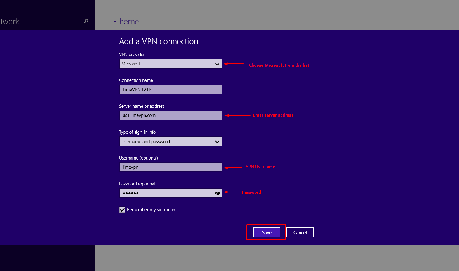 Setting up L2TP VPN on Windows 8
